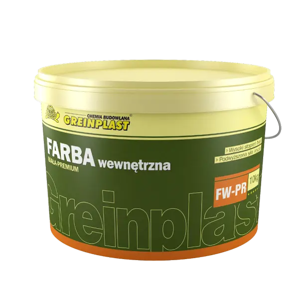 Paint for indoor use - premium GREINPLAST FW-PR